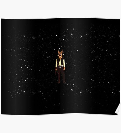 Han Solo Star Wars Dog Poster
