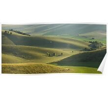 Soothing rolling hills view. Poster