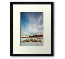 Round Hill Point Rocks Framed Print