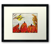 Pumpkin Patch, watercolor Framed Print