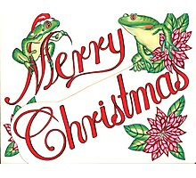 Christmas Frogs Drawing Photographic Print
