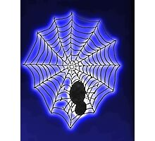 Spooky spider web, watercolor Photographic Print