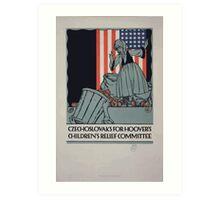 Czechoslovaks for Hoovers childrens relief committee Art Print