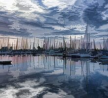 Sailboat Summer Impressions by Georgia Mizuleva