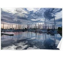 Sailboat Summer Impressions Poster