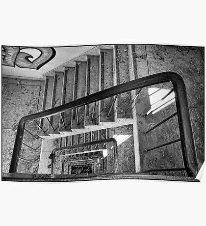 Derelict Staircase Poster