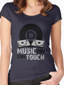 Music You Can Touch Women's Fitted Scoop T-Shirt