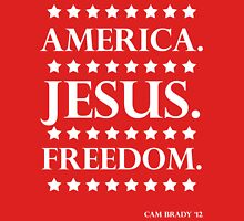 America. Jesus. Freedom. - The Campaign Unisex T-Shirt