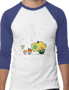 Bubble Animals Men's Baseball ¾ T-Shirt