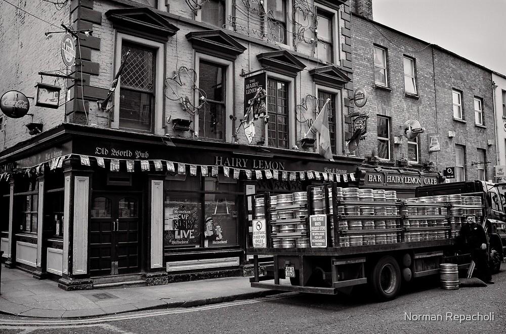 Precious cargo for a pub - Dublin by Norman Repacholi