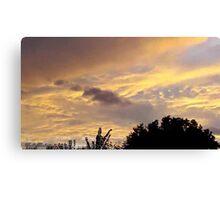 July 2012 Sunset 1 Canvas Print