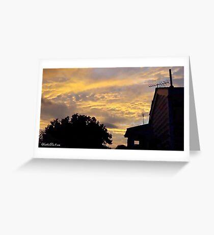 July 2012 Sunset 2 Greeting Card