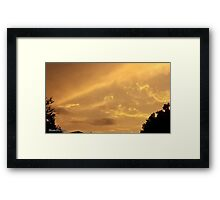 July 2012 Sunset 4 Framed Print