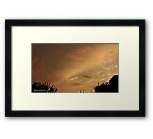 July 2012 Sunset 6 Framed Print