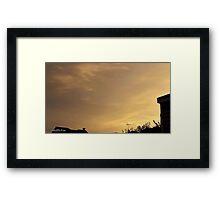 July 2012 Sunset 9 Framed Print