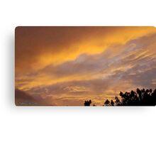 July 2012 Sunset 11 Canvas Print
