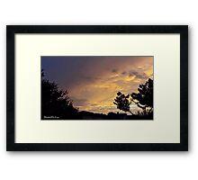 July 2012 Sunset 13 Framed Print