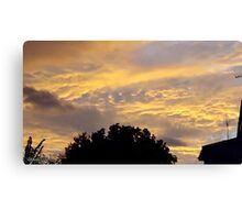 July 2012 Sunset 17 Canvas Print