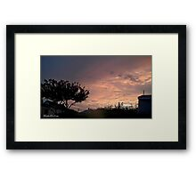July 2012 Sunset 25 Framed Print