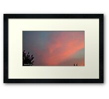 July 2012 Sunset 29 Framed Print