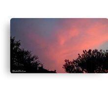 July 2012 Sunset 31 Canvas Print