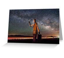 Cosmic Hitchhiker Greeting Card