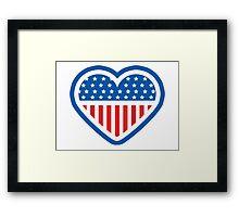 American Patriot Heart Framed Print