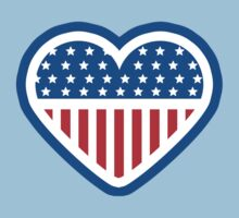 American Patriot Heart Kids Clothes