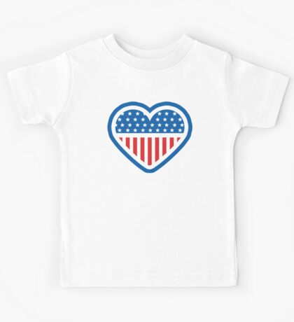 American Patriot Heart Kids Tee