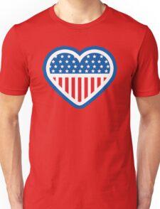American Patriot Heart Unisex T-Shirt