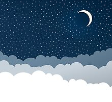 Night Sky with Clouds by sale