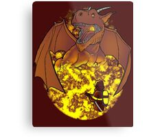 The Fire: an epic fight. Metal Print