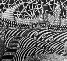239 - FLOWERS OF THE CASTLE - DAVE EDWARDS - INK - 2012 by BLYTHART