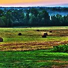 Sunrise on Hay-field Hdr by Jamie Mathiau