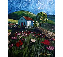 Poppy Field Cottage Photographic Print
