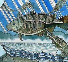 Atlantic cod hunting herring  by Ronan Crowley