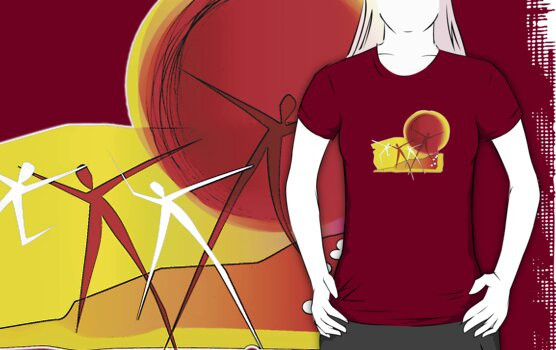 Sun Dance - Graphic T shirt by BlueShift