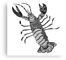 Crayfish Illustration Canvas Print