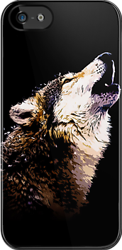 Howling Wolf (iPhone/iPod Case) by accioloki