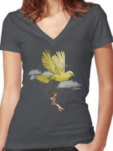 Higher, up to the sky!! Women's Fitted V-Neck T-Shirt
