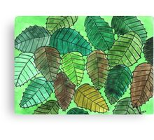 Green Leaves in the Fall Canvas Print