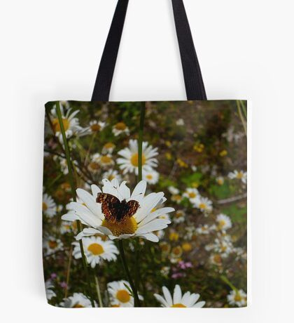 Butterfly and Daisies Tote Bag