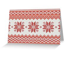 Merry Christmas pattern Greeting Card