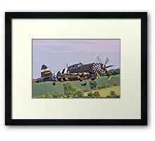 "TP-47G ""Snafu"" tucks 'em up Framed Print"