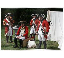 reenactors portraying british soldiers Poster