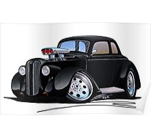 1936 Plymouth Coupe (B) Black Poster