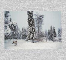 Deer in Lapland One Piece - Long Sleeve