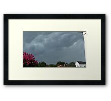 Severe Storm Warning 4 Framed Print