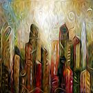 Art City Oil Painting by Fred Seghetti