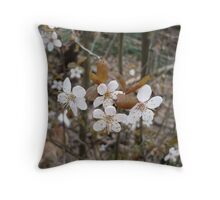 Wild Cherry Blossoms Throw Pillow